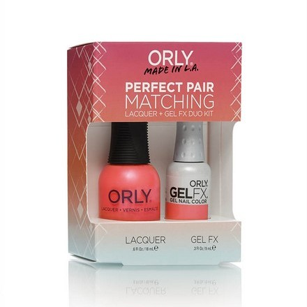 ORLY, Набор Perfect Pair Lacquer/Gel Duo Kit, 13 Hot Shot лаки для ногтей orly мини лак для ногтей 678 sheer nude