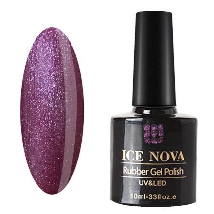 Купить Ice Nova, Гель-лак каучуковый №058, Фиолетовый