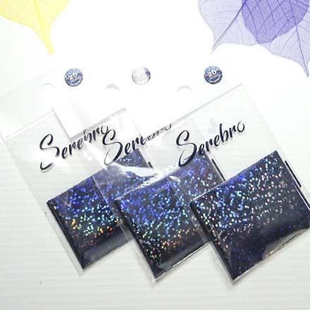 Купить Serebro, Фольга для дизайна ногтей №26, блеск, черный