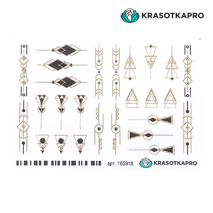 Купить KrasotkaPro, 3D-слайдер Crystal Gold №165918 «Геометрия. Фигуры»