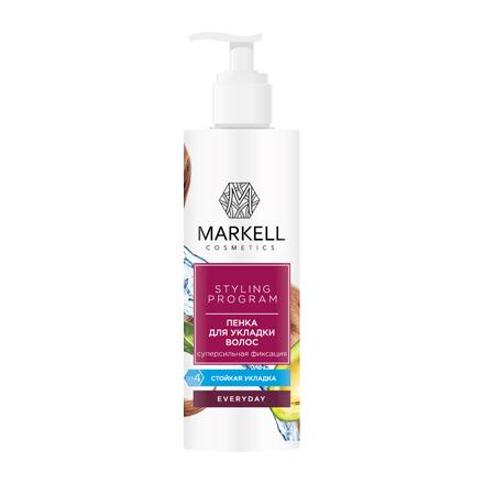 Markell, Пенка для укладки волос «Everyday», Суперсильная фиксация, 200 мл
