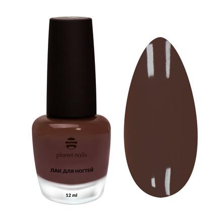 Planet Nails, Лак для ногтей №879 коричневого цвета