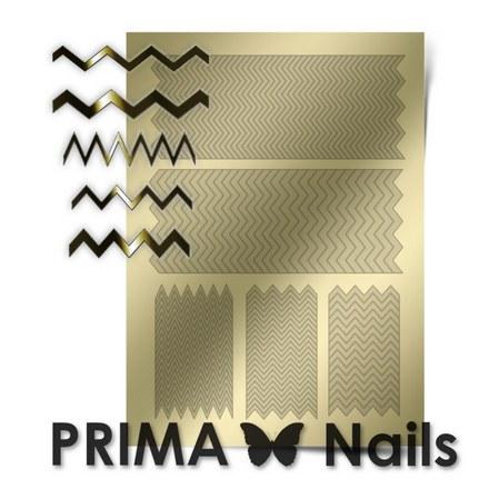 Prima Nails, Металлизированные наклейки GM-06, золото