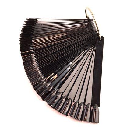 TNL, Палитра «веер» черная, 50 шт.
