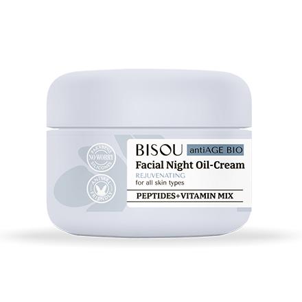 Купить Bisou, Ночной крем для лица «Восстанавливающий», 50 мл