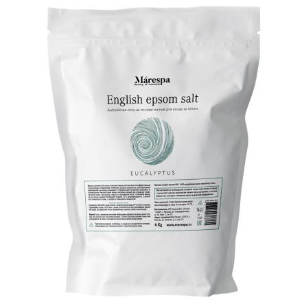 Купить Marespa, Соль для ванн English Epsom «Эвкалипт», 4 кг