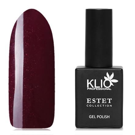 Klio Professional, Гель-лак Estet Collection №53Klio Professional<br>Гель-лак (10 мл) сливовый, с микроблестками красного цвета, плотный.
