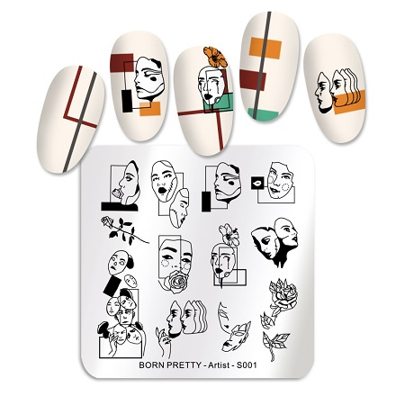 Купить Born Pretty, Пластина для стемпинга Artist №001, 6х6 см