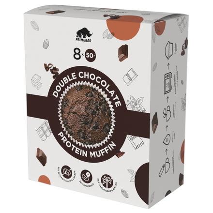 Primebar, Смесь для приготовления протеиновых маффинов «Двойной шоколад», 400 г
