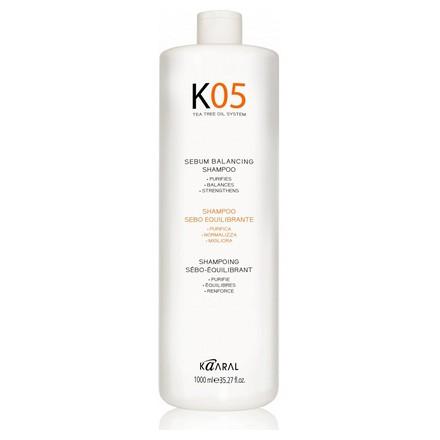 Купить Kaaral, Шампунь Sebum-Balancing K-05 для восстановления баланса секреции сальных желез, 1000 мл