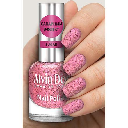 Alvin D'or, Лак «Сахарный эффект», тон 3013 розового цвета