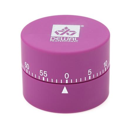 Купить Dewal, Таймер механический, круглый, фиолетовый