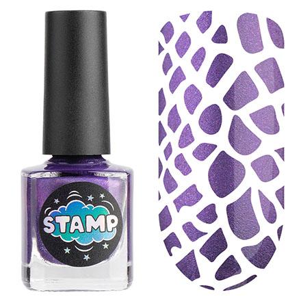 Купить IRISK, Лак-краска для стемпинга Chrome №007, Фиолетовый