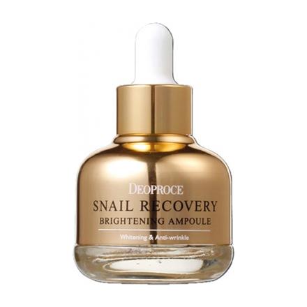 Deoproce, Сыворотка для лица Snail Recovery Brightening Ampoule, 30 млСыворотки для лица<br>Cыворотка против морщин с фильтратом улиточной слизи.