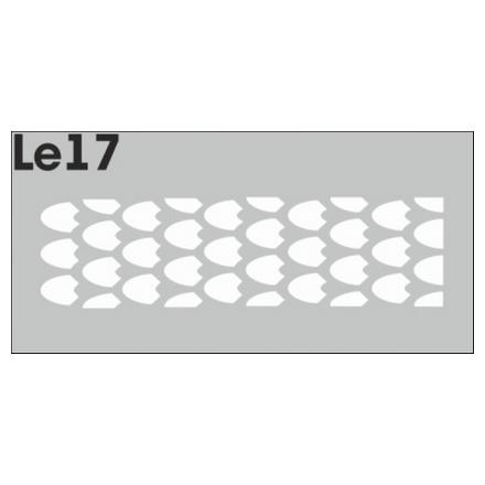 Airnails, Трафареты LE17Трафареты для маникюра<br>Набор многоразовых клеевых трафаретов для аэрографии на ногтях из высокоэластичной пленки. В упаковке 3 шт.<br>
