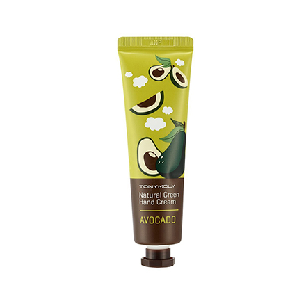 Tony Moly, Крем для рук Natural Green Hand Cream, Avocado the yeon canola honey silky hand cream крем для рук с экстрактом меда канола 50 мл