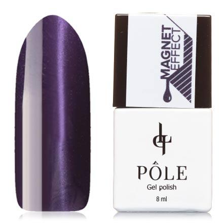 POLE, Гель-лак №61, Фиалковая росаPOLE<br>Магнитный гель-лак (8 мл) темно-фиолетовый, с сиреневыми микроблестками, плотный.<br><br>Цвет: Фиолетовый<br>Объем мл: 8.00