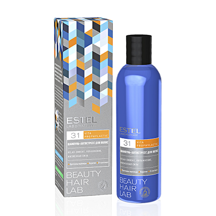 Estel, Шампунь Beauty Hair Lab, антистресс для волос, 250 мл estel шампунь beauty hair lab антистресс для волос 250 мл