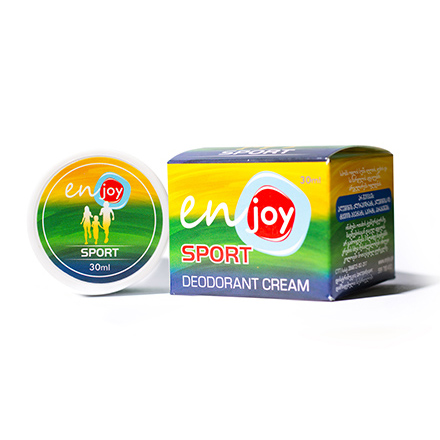 Enjoy, Крем-дезодорант Sport, в баночке, 30 гДезодорирующие средства<br>Экосредство для нейтрализации лишней влаги и снятия раздражений. Универсальный запах.