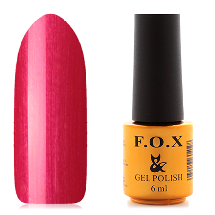 FOX, Гель-лак Pigment №042F.O.X<br>Гель-лак (6 мл) клубнично-красный, с перламутром, полупрозрачный.