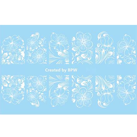 Купить BPW.Style, Слайдер-дизайн «Белые цветы» №2-47