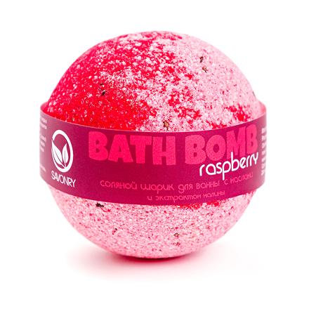 Купить Savonry, Бурлящий шарик для ванны Raspberry, 100 г