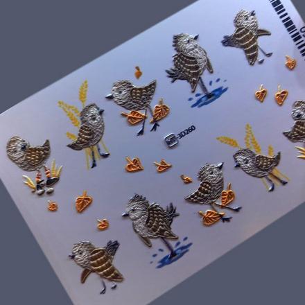 AnnaTkacheva,3D-слайдерHT№260 «Птицы. Веточки» фото