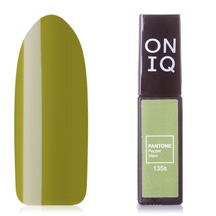 Купить ONIQ, Гель-лак Pantone №135s, Pepper Stem, Зеленый