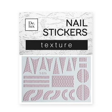 De.Lux, Текстурный слайдер «Кожа» Т026Слайдер-дизайн<br>Слайдер для создания оригинального дизайна на ногтях.