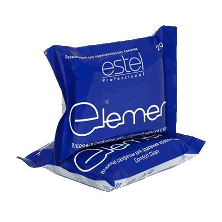 Estel, Салфетки влажные Estel Element для удаления краски с кожи от KRASOTKAPRO.RU