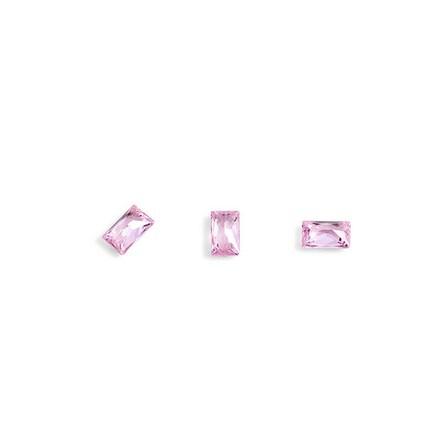 TNL, Кристаллы «Багет» №3, розовые, 10 шт.3D украшения<br>Кристаллы для объемной инкрустации ногтей. В упаковке 10 штук.