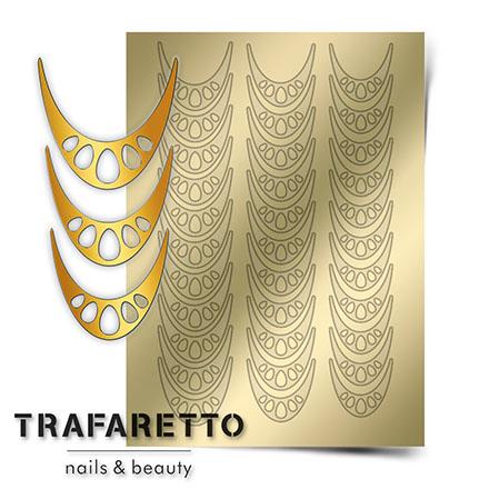 Купить Trafaretto, Металлизированные наклейки CL-06, золото