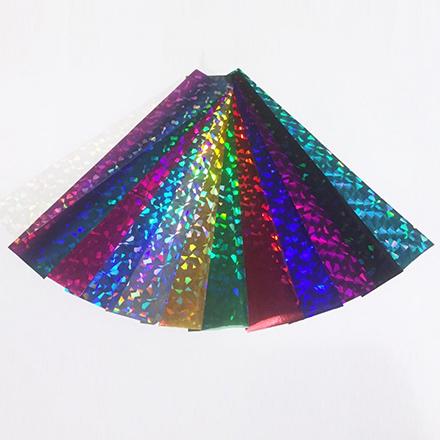 De.Lux, Набор фольги переводной голографической «Калейдоскоп» набор фольга de lux битое стекло 5 шт прозрачный
