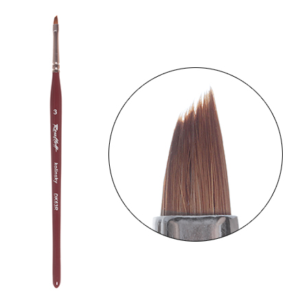 Roubloff, Кисть для китайской росписи, наклонная, из волоса колонка №3 (DK63R)