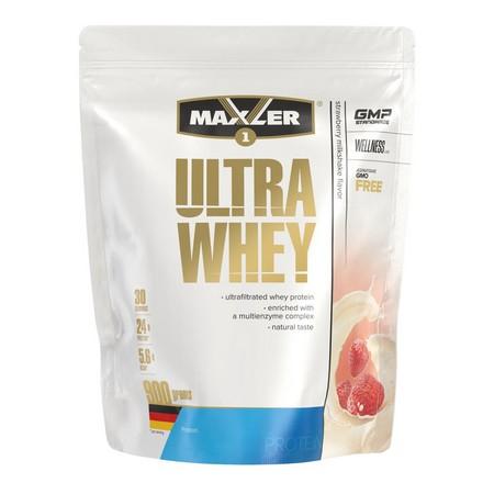 Maxler, Протеин Ultra Whey, клубничный молочный коктейль, 900 г