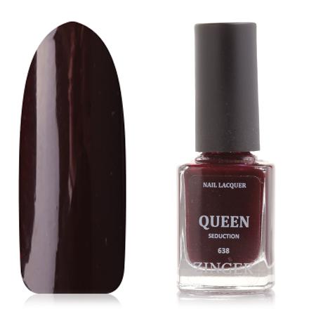Zinger, Лак для ногтей Queen, цвет Seduction