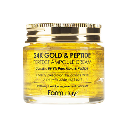 FarmStay, Крем ампульный 24 Gold&Peptide, 80 мл