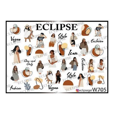 Купить Eclipse, Слайдер-дизайн для ногтей W №705