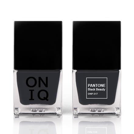 Купить ONIQ, Лак для ногтей Pantone, Black Beauty, Черный