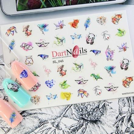 Купить DartNails, Слайдер-дизайн Art-Fashion «Оригами» №045
