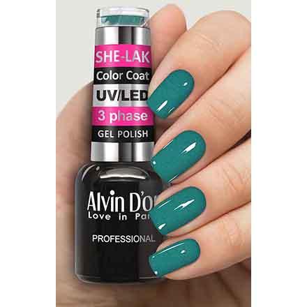 Купить Alvin D'or, Гель-лак №3517, Зеленый