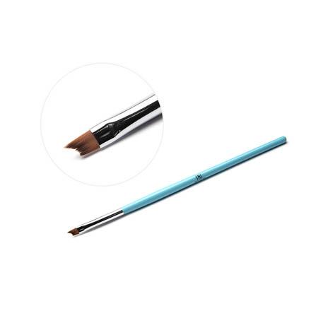 TNL, Кисть для дизайна фигурная «Улыбка», голубаяКисти для дизайна<br>Профессиональная кисть для росписи ногтей.
