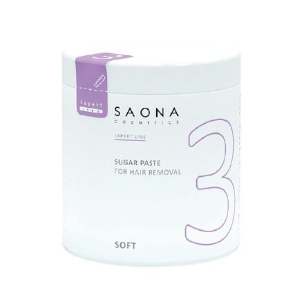 Saona Cosmetics, Сахарная паста для депиляции Soft, мягкая, 1000 г