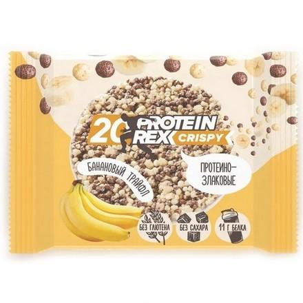 Купить ProteinRex, Протеино-злаковые хлебцы «Банановый трайфл», 55 г