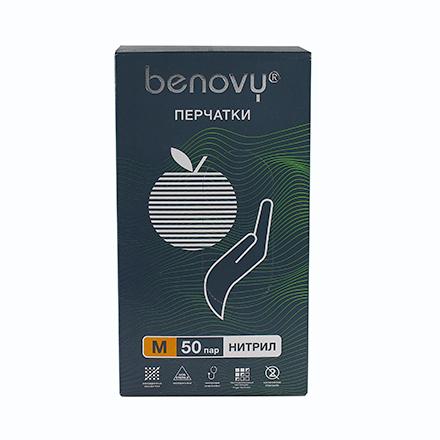 Купить Benovy, Перчатки нитриловые зеленые, размер M, 100 шт.