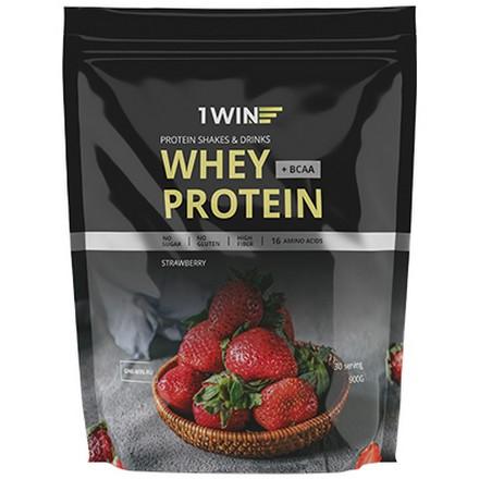 1WIN, Протеин Whey BCAA «Клубника», 900 г