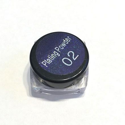 Bluesky, Втирка «Зеркальный блеск» №02, сине-фиолетовая от KRASOTKAPRO.RU