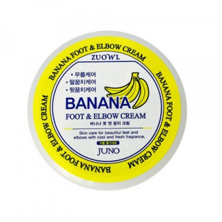 Juno, Крем для ног и локтей с бананом, 100 млКремы и мази<br>Крем для очень сухой кожи с отшелушивающим эффектом.