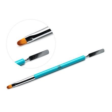 TNL, Кисть-шпатель, голубаяКисти для моделирования гелем<br>Двусторонний инструмент для работы с полигелем при моделировании ногтей.