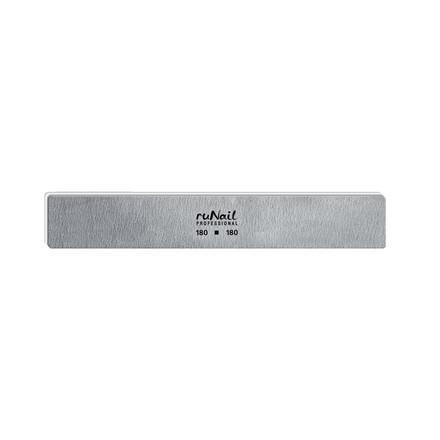 Купить RuNail, Пилка для искусственных ногтей серая, прямая, 180/180